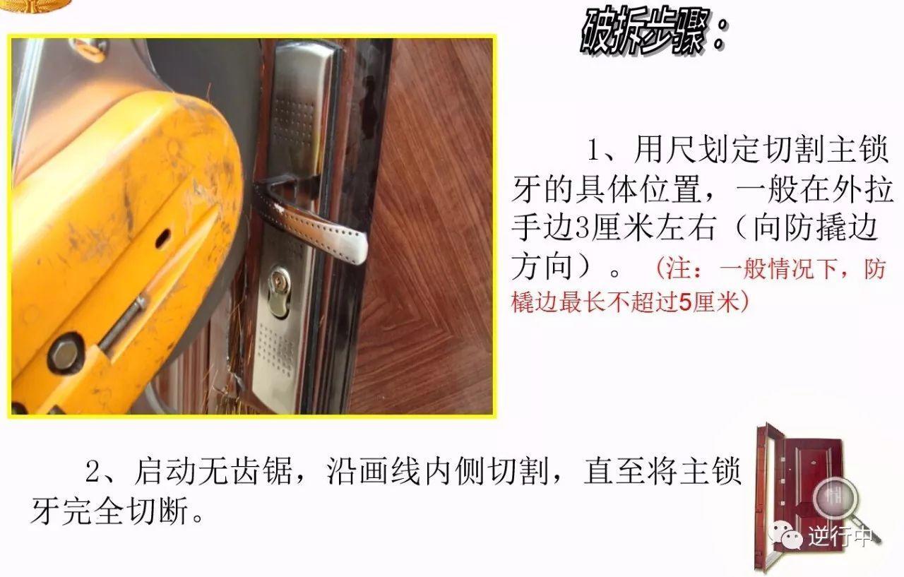 干货:防盗门破拆程序